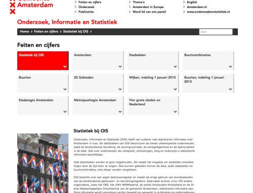 Website  Onderzoek, Informatie en Statistiek